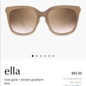 Lauren Akins DIFFE Ella Sunglasses in Rose Gold